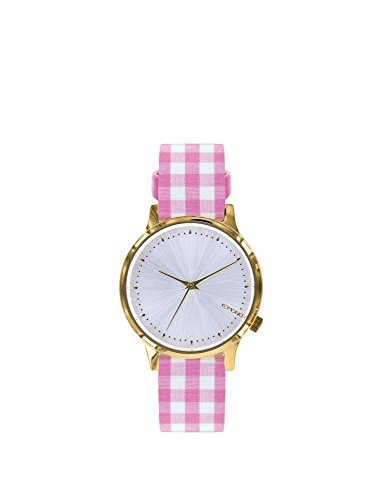 Komono Women's Plaid Watch Estelle Vichy Kom-W2855 Pink