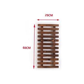 Holz wandhalterung f r pflanzen 40x1 5x60cm grau for Wandhalterung pflanzen
