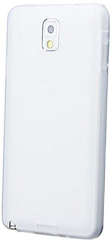 iCues Samsung Galaxy Note 3    TPU Matt Case mit Stöpsel Weiss   [Display Schutzfolie Inklusive] Transparent Klarsichthülle Durchsichtig Klare Klarsicht Silikon Gel Schutzhülle Hülle Cover Schutz