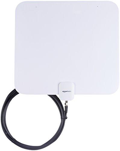 AmazonBasics - Flache TV-Antenne für Innenräume, Reichweite: 56,3 km