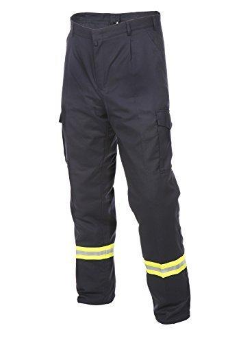 Satin Seitlicher Reißverschluss, Hose (Bundhose HuPF Teil 2 - Reflex - Baumwolle - verschiedene Größen - Feuerwehrhose - Feuerwehr Bundhose)