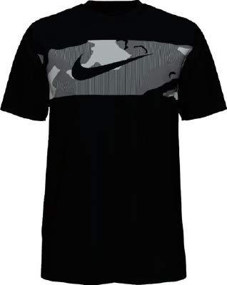 Nike Herren Dry Camo Block T-Shirt, Black/White, L -