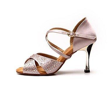Roxo Cetim Dourados Saltos Dança Sapatos Xiamuo outras Cores De Mulheres Diamante Latina Sandálias qB74xZn