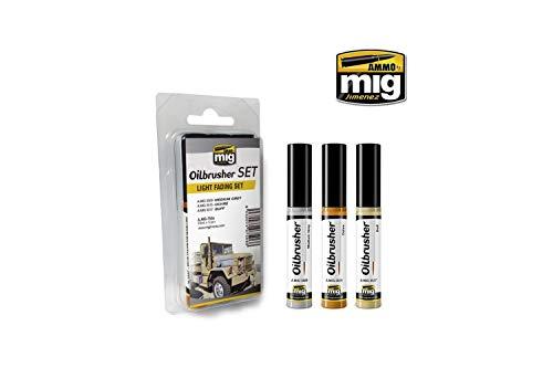 AMMO MIG-7506 Light Fading Oilbrushers Set, Multicolour -
