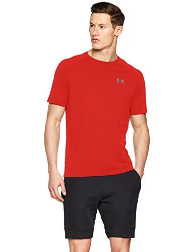 c7aa49723f6a59 Under Armour UA Tech 2.0 SS tee Camiseta, Hombre, Rojo (Red/Graphite