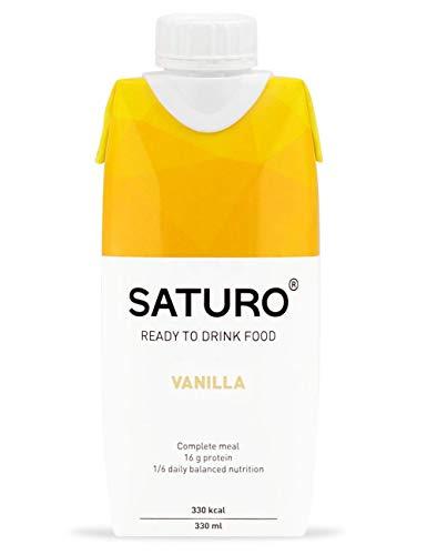 Astronautennahrung Saturo Trinknahrung Vanille, 330 kcal, Hochkalorisch, Energy Drink mit Hochwertigem Protein, Bekannt aus dem TV, 8 x 330 ml