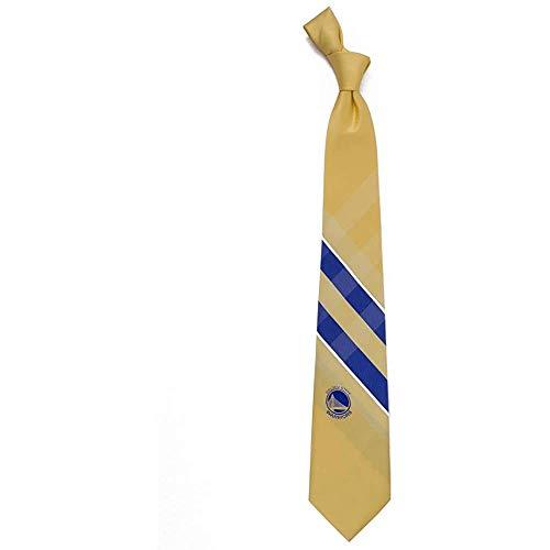 Männer Krawatte Krawatte,Golden State Warriors Grid Poly Krawatte,Neck Tie,Long 145Cm -