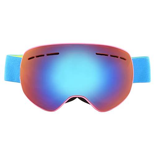 Labor Schutzbrille Anti Fog Hd Augenschutz Skibrille Mit Großer Sphärischer Doppelschicht Pink Frame Orange Damen Herren