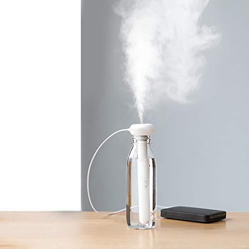 AIMADO Home-USB Tragbarer Mini Luftbefeuchter Ultraschall Vernebler, Ultra Leise reisen Luftbefeuchter für Schlafzimmer, Büro, Autos und Hotel (Reise-luftbefeuchter)