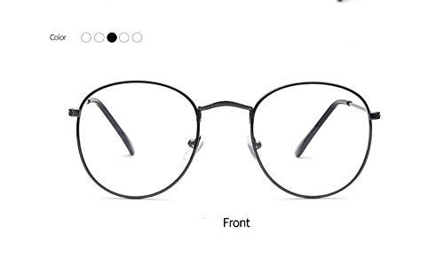zywddp Metal Retro Flat Mirror, Fashion Versatile Literary Glasses, Gun Frame