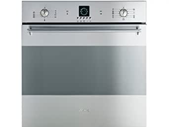 Smeg SFP99X four - fours (Intégré, Electrique, A, Acier inoxydable, boutons, Rotatif, Devant)