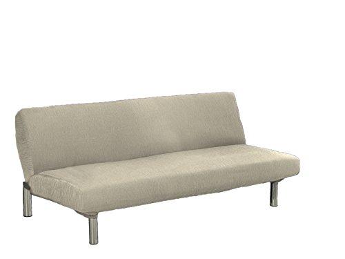 Textilhome - Stretchhusse für Sofabett Klick-Klack TEIDE, 3 Sitzer - 180 a 240 cm. Farbe Elfenbein