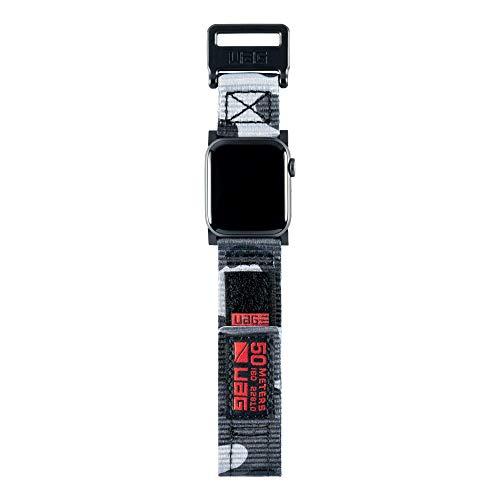 Urban Armor Gear Active Strap Cinturino per Apple Watch (42mm) e Apple Watch (44mm) [Per la Gen. 1/2/3/4, Cinturini di ricambio] - nero (camo)