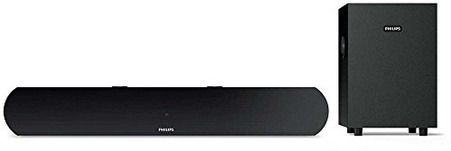 Philips HTL1032 2.1 Channel Bluetooth Soundbar Speakers with Subwoofer (Black)