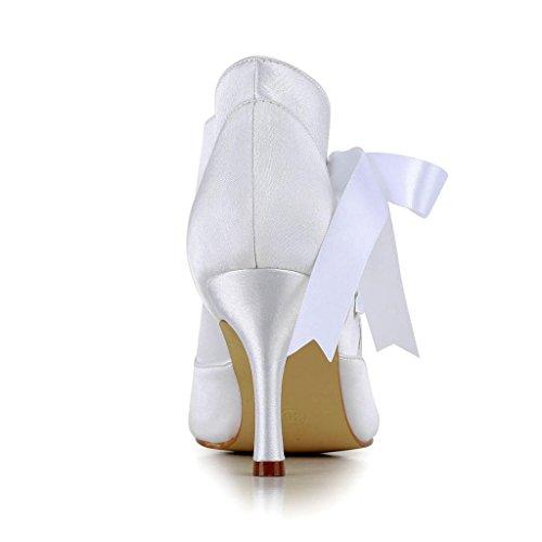 Jia Jia Wedding A31H31 chaussures de mariée mariage Escarpins pour femme Blanc
