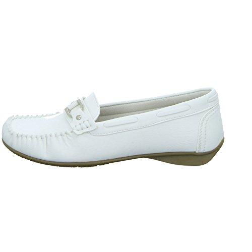 Alyssa 11AB41526 Damen Slipper Halbschuh sportlicher Boden Casual Weiß (Weiß)