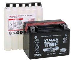 Batteria YUASA ytx15l BS, 12V/13ah (dimensioni: 175X 87X 130) per moto guzzi V11Sport 1100anno di costruzione 1998