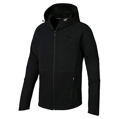 PUMA Herren Evostripe Move Hooded Jacket Sweatjacke Black, L Preisvergleich