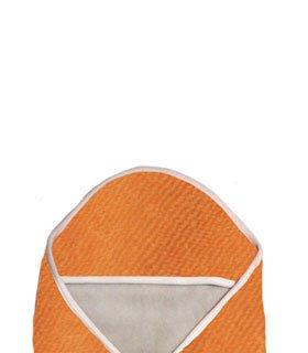 Popolini Schlupf- und Kuscheldecke, kbA-Baumwolle orange , grau