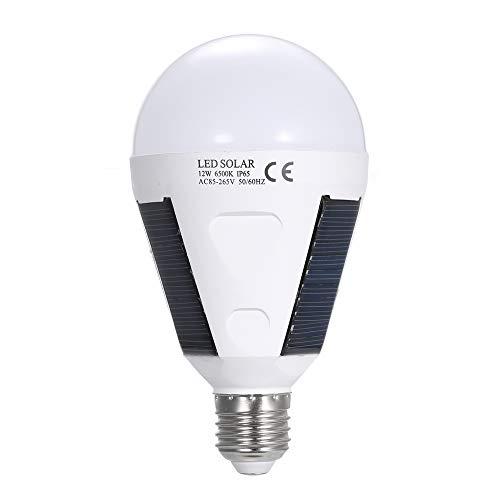 Caracteristicas: Suministro de energía por energía solar, que es limpia, sin fin y ecológica. La batería de litio 1PC 18650 proporciona alimentación a este producto, cuando se produce un fallo repentino de la alimentación, puede emitir una luz durant...