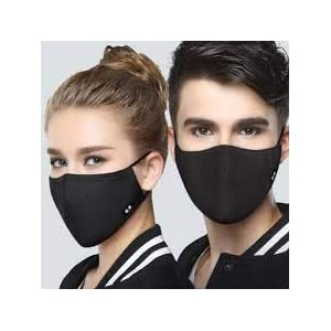 TRENDING Anti-Pollution Dust Cotton Unisex Mouth Half Face Mask (Pack of 5 pcs)