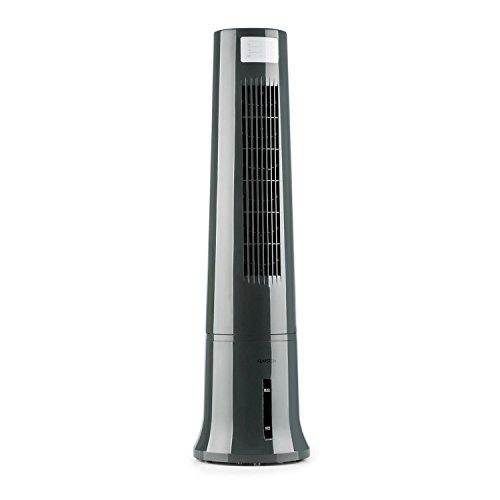 Klarstein Highrise • 3-in-1-Klimagerät • Summer Edition • Ventilator • Luftreinigung • Luftbefeuchtung • Oszillation • 3 Leistungsstufen • Touch-Bedienung • 35 Watt • inkl. Fernbedienung • grau (Kühler Wasser)