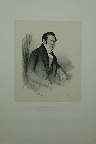 Portrait. Hüftbild nach halbrechts. Lithographie von J. Balder.