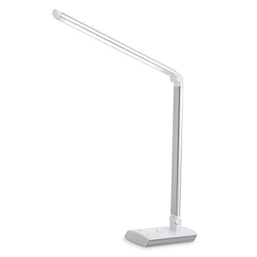 Albrillo Lámpara de mesa plegable 60LED, plateada–4colores (4–11W)