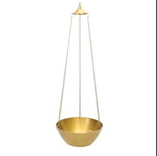 youjiu Dekorationen Windlicht Geschenke Kupferschale;Pendelleuchte Für Buddha;Öllampe;Pendelleuchte;7 Zoll