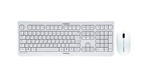 CHERRY DW 3000 Wireless Desktop weiß Tastatur + Maus, Layout Deutschland -