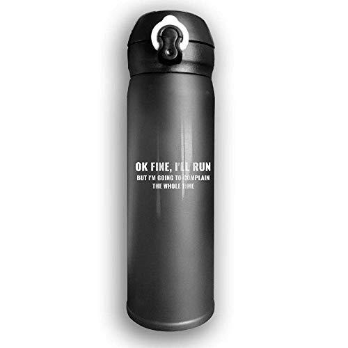 Bestqe Vakuumisolierte Trinkflasche,Wasserflasche,Thermosflasche, Fine I'll Run Stainless Steel Mug 17 OZ Double Walled Vacuum Insulated Water Bottles 17 Oz Mug