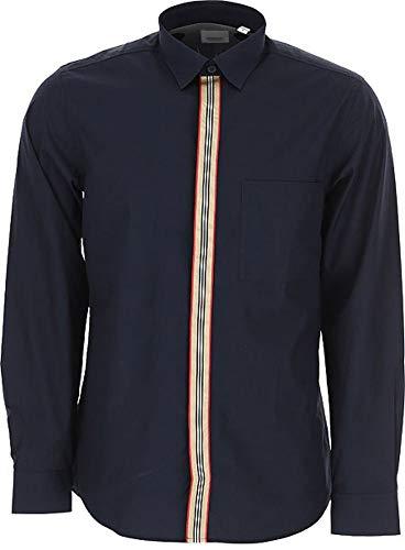 BURBERRY Herren 8017239 Blau Baumwolle Hemd