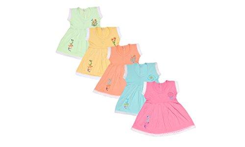 Jo Kids Wear Baby Girls Frock Set (4069_Multicolour_6 - 12...
