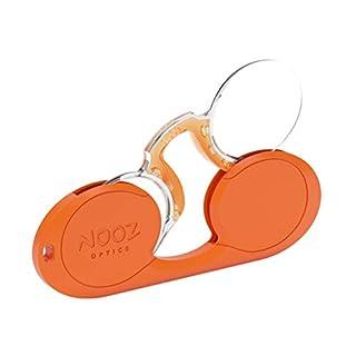 NOOZ - Bügellose Lesebrille Unisex - Orange +2 Oval - Immer griffbereit