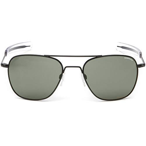 Randolph Sunglasses Aviator Matte Black Agx Glass 58 AF116 NEW