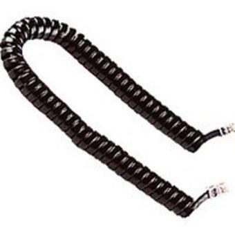 CABLING® Cordon téléphonique spiralé RJ9 Noir pour brancher combiné téléphonique a sa base.