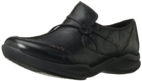 Clarks Wave.run Loafer Black Leather