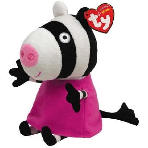 TY Di licenza Beanie Peppa Pig Amici Zoe Zebra