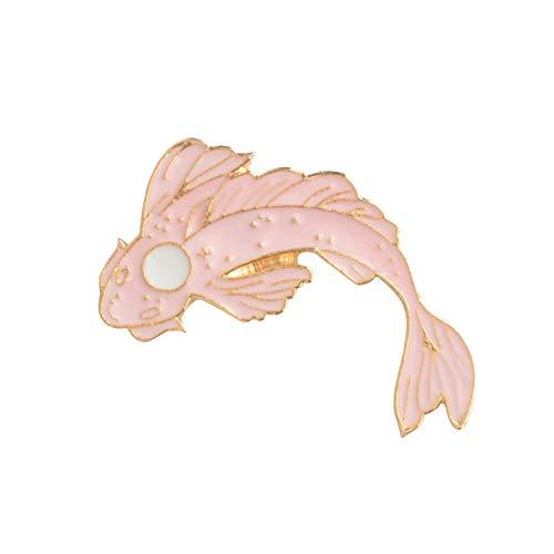Hacoly Boutique Broschen Schmuck Brooch Tintenfisch Pin Damen Pin Kostüm Brosche Hemd Strass Brosche für Boutique Mantel Besetzt Schals Tücher-Rosa (Rosa Tintenfisch Kostüm)