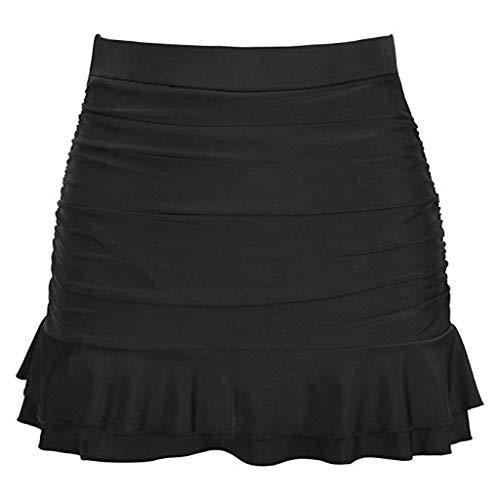 Bfmyxgs Damenmode Bottom High Waisted Gekräuselter Seyx Skirted Bikini Bottom Fashion Rüschen Bademode Beachwear Monokini -