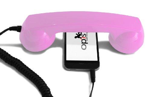 Opis 60s micro rosa fucsia (ricevitore per cellulari/cornetta per smartphone)