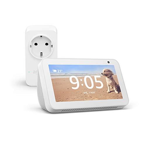 Echo Show 5 (blanco) +Amazon Smart Plug (enchufe inteligente wifi),