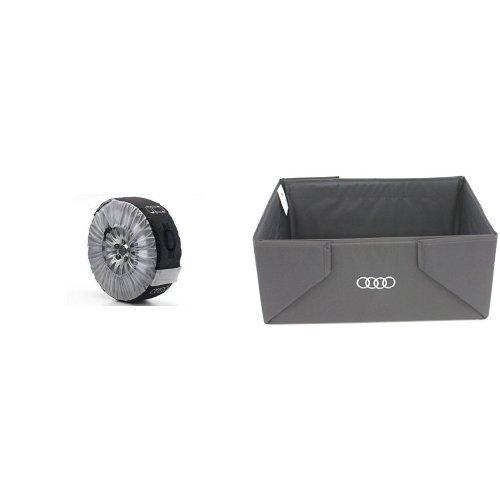 Preisvergleich Produktbild Audi 4F0 071 156 A 4-er Set Rad-Taschen und Audi 8U0 061 109 Kofferraumbox