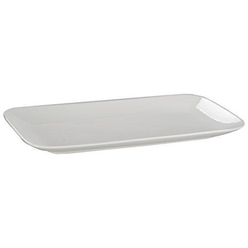 DRULINE Geschirrserie New Bone China Geschirr Teller Platte Schüssel Porzellan Weiß Platte (Groß - 36 cm) 6 Stück (China-platte)