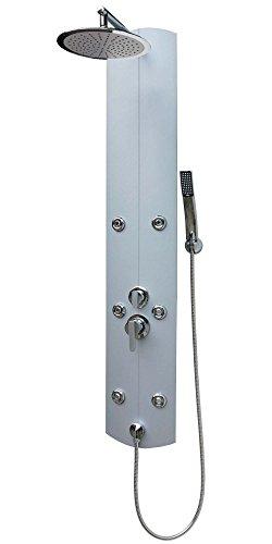 Dirks-traumbad aluminium a003 colonne de douche argenté 25 cm