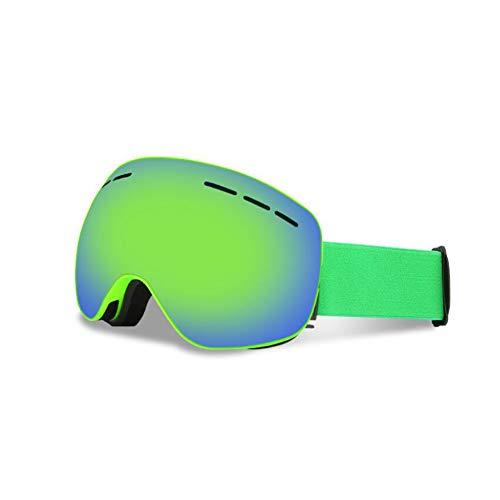 He-yanjing Wandernde Skischutzbrillen der Mode im Freien, Ski-Snowboarding-Schutzbrillen, Berufsskigläser, über Gläsern Ski/Snowboard-Schutzbrillen für Männer, Frauen u. Jugend (Farbe : Grün) - Frauen-ski-schutzbrillen Grün