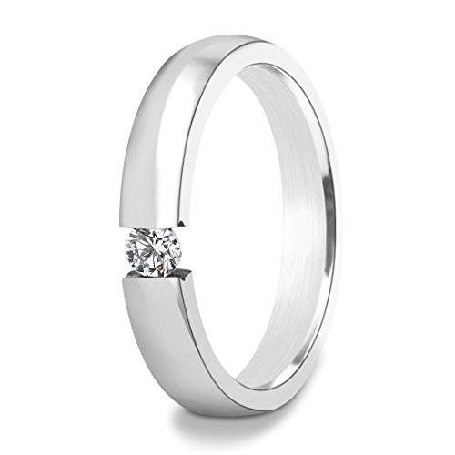 Edelstahl Zirkonia Ringe für Frauen Rose Gold Titan Band (Geschenke Unter 4 Dollar)
