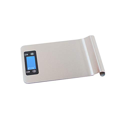XOSHX 1G / 5Kg Temperatur Küche LCD Elektronische Digitale Backen Timer Skala Lebensmittel Wiegen Hintergrundbeleuchtung Edelstahl Kochen Hängen (Oxo-digital-skala)