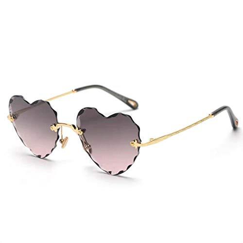 fuqiuwei Sonnenbrillen Einfache Und Vielseitige Temperament Sonnenbrillen Lieben Herzförmige Sonnenbrillen, Kreative Süße Modebrillen