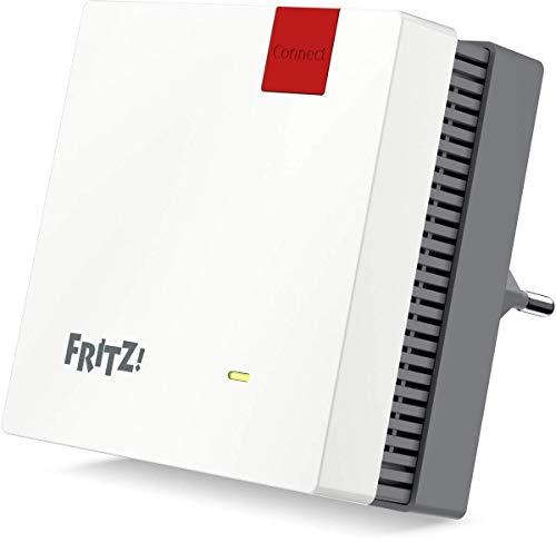 AVM Fritz!Repeater 1200 (Zwei Funkeinheiten: 5 GHz (bis zu 866 MBit/s), 2,4 GHz (bis zu 400 MBit/s), 1x Gigabit-LAN, WLAN Mesh, deutschsprachige Version)